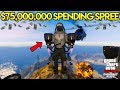 GTA Online: The Doomsday Heist - $75,000,000 SPENDING SPREE! BUYING JETPACK, DELUXO & MORE