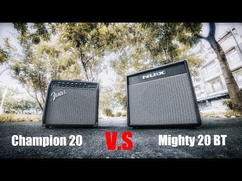 Fender Champion 20 V.S NUX Mighty 20 BT Test By Jimmy Lin (No Talking)