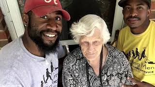 This Young man watches 93-Year-old woman's routine, takes action when she steps outside