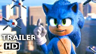 "SONIC THE HEDGEHOG ""Faster Than Missiles"" Trailer (NEW, 2020) Jim Carrey Movie HD"