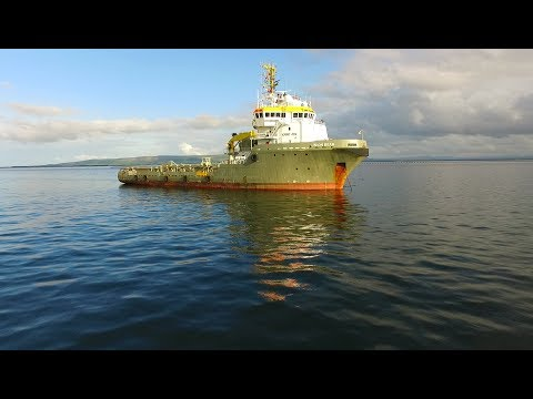 DJI Phantom 3 Advanced - Union Bear Off Shore Supply Vessel At Moville Bay