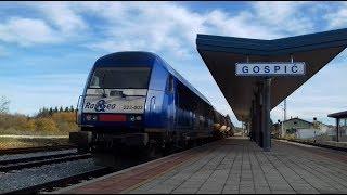 Vlakovi u Gospiću,Listopad 2017//Trains in Gospić 2017.