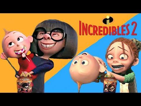 Edna Mode vs Kari Mckeen - Incredibles 2 Baby Sitter Best TV Spot   Mcdonalds Happy Meal Commercial