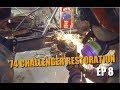 74 dodge challenger restoration 8 left frame rail repair
