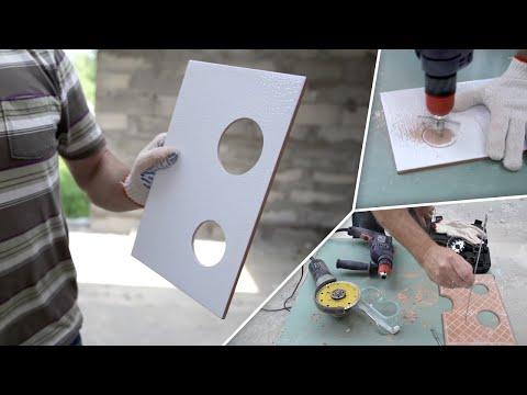 видео: Как сделать отверстия в плитке (5 простых способов)
