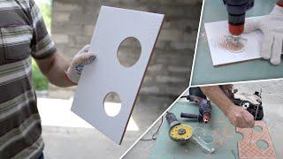 Как сделать отверстия в плитке (5 простых способов)(Режущий инструмент по плитке можно найти на сайте СтройИнструм.ру Подпишитесь на мои новые видео: http://remontkv.p..., 2014-10-31T11:56:56.000Z)