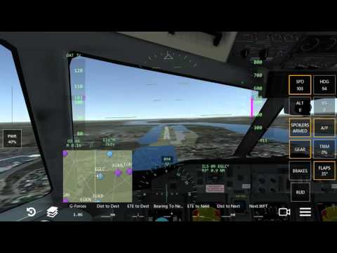 Infinite Flight - Steep 5.5° approach into London City Airport