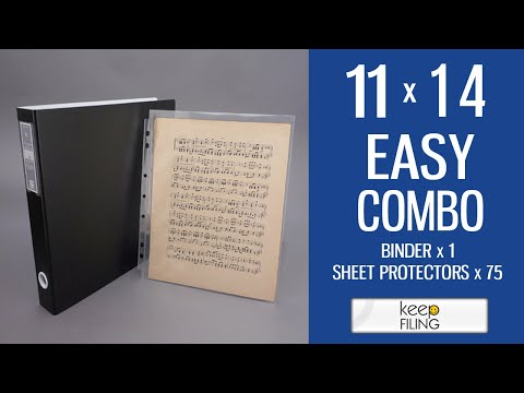 11x14 Easy Combo - Poster Binder | Keepfiling