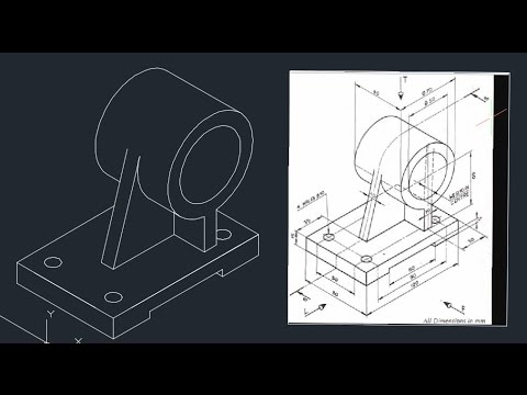 Autocad isometric exercise #05