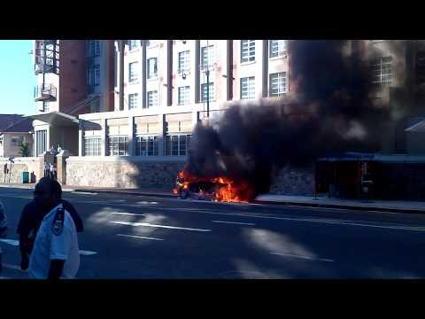 Car on fire - Toyota Avanza
