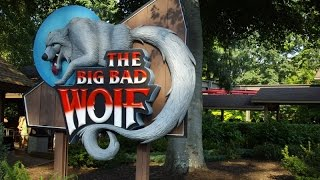 Big Bad Wolf Roller Coaster On Ride POV Retro 1999 Footage Busch Gardens Williamsburg