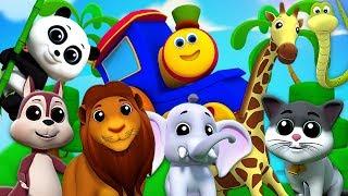 Tiergeräusche für kinder   Bob den Zug   Tiere klingen Lied   Bob Train Animals Sound Song