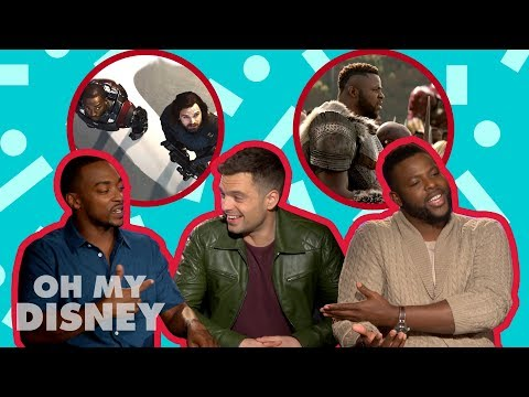 Winston Duke, Anthony Mackie, and Sebastian Stan Tell All  Oh My Disney  by Oh My Disney