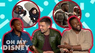 Winston Duke, Anthony Mackie, and Sebastian Stan Tell All   Oh My Disney Show by Oh My Disney