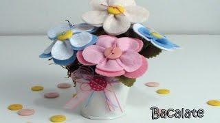 Artesanato Flores de Feltro para Decoração