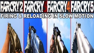 AK-47 In Far Cry Games - Comparison In Slow Motion