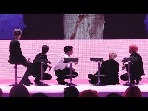 방탄소년단이 기자간담회 중 바닥에 앉은 이유는?  BTS MAP OF THE SOUL : PERSONA Global Press Conference