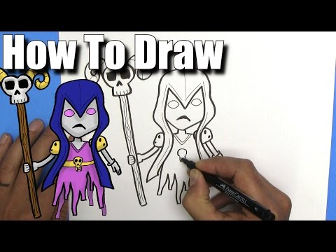 How To Draw A Witch From Clash Royale!- EASY - Step By Step