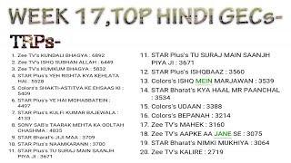 Top Hindi shows | week 17 | barc trp ratings