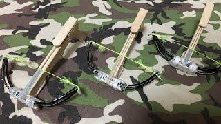 【作ってみた】ミニボウガン How to Make a Mini Crossbow 爪楊枝ボーガン 検索動画 13