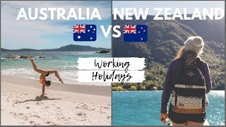 Australia VS New Zealand Working Holidays // Comparing the Two - Which is better? Q&A