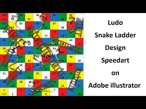 Ludo Snake Ladder Design - Speedart On Adobe Illustrator