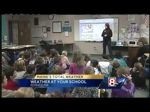 Mallory Brooke visits the Sea Road School in Kennebunk