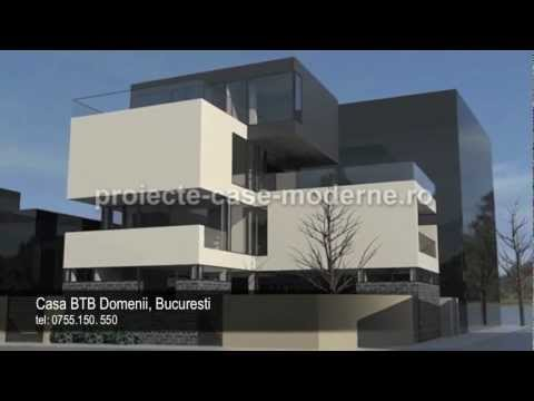 Proiecte case moderne | Model casa BTB Bucuresti - YouTube