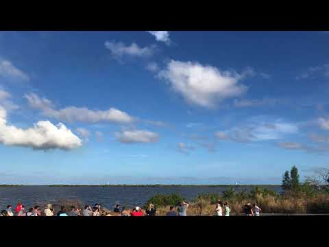 """Falcon Heavy Test Launch from 3.9 miles away at """"Feel The Heat"""" Viewing Location"""