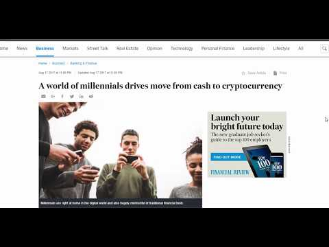 A world of millennials drives move from cash to cryptocurrency