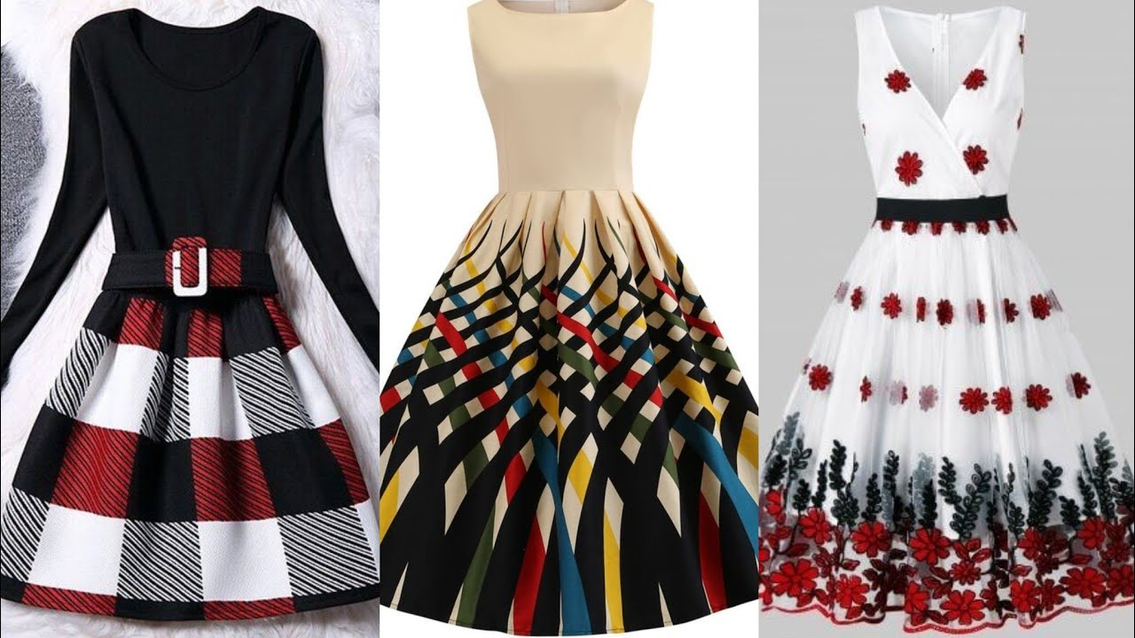 beautiful and latest styles of midi dresses collection for girls - YouTube