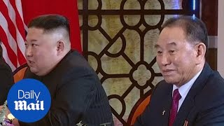 Footage from summit showing two of the envoys executed in North Korea