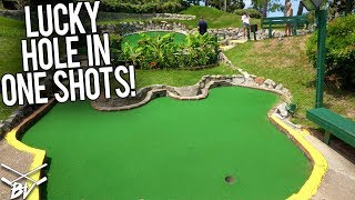 LUCKY Mini Golf Hole In One at this CRAZY Mini Golf Course!