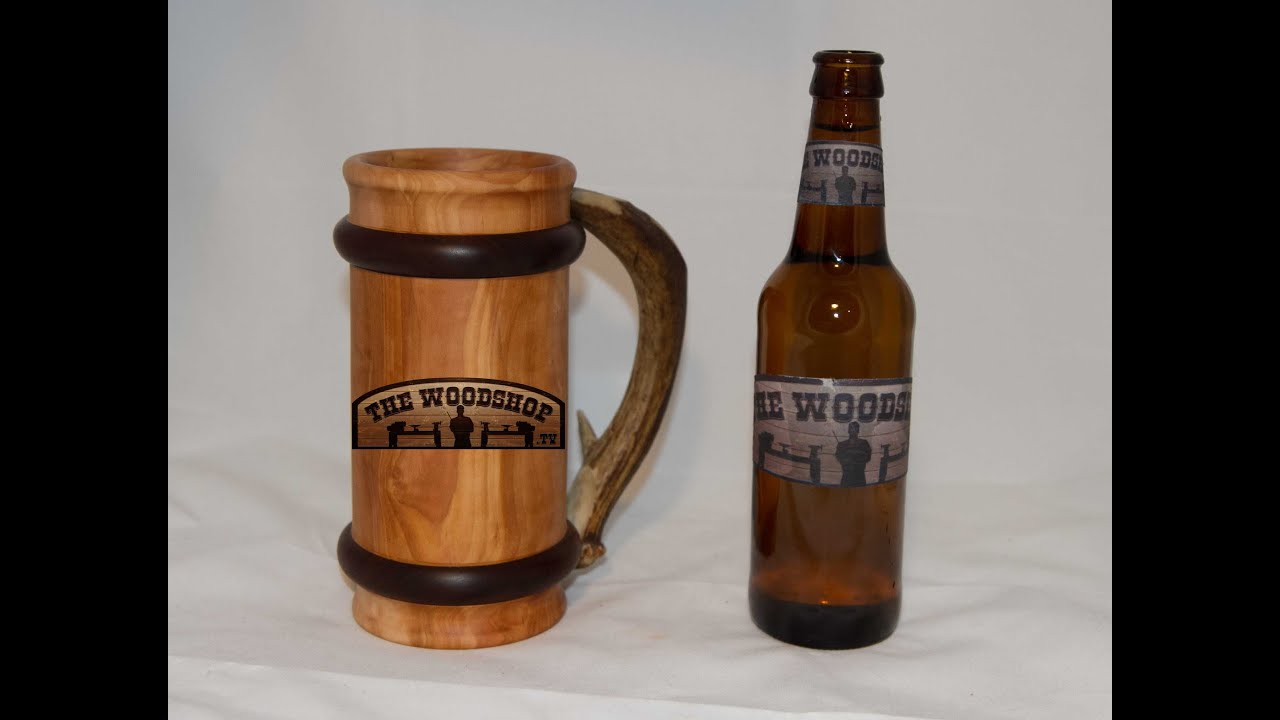 How To Make A Beer Mug DIY Woodturning Projects - YouTube