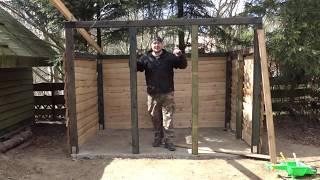 Budowa Obory dla Kozy odc.5 (obróbka drewna i ściany boczne) -KwasiorOfficial