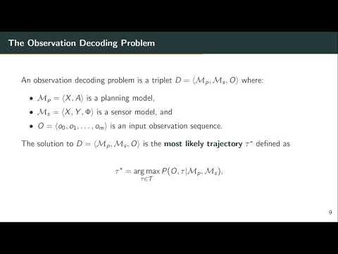 "ICAPS 2020: Aineto et al. on ""Observation Decoding with Sensor ..."