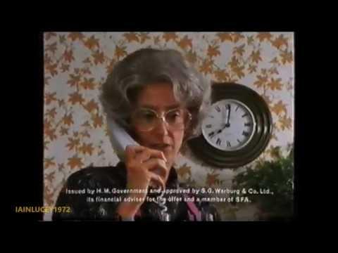 BRITISH TELECOM TV ADVERT maureen lipman  BT SHARE OFFER  THAMES TV  1991 HD 1080P