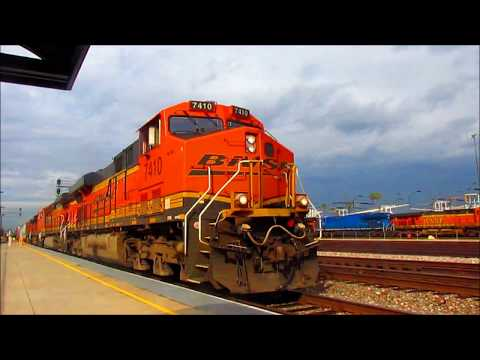 1/7/17 GECX ET44s, KCS 4009 and other trains in Commerce/Montebello/Rose Hills