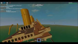 Sinking of the H.M.H.S Britannic | Roblox lets Play #2