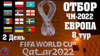 Футбол Чемпионат мира 2022 Отбор 8 Тур Квалификация в Европе Германия и Дания вышли на ЧМ 2022