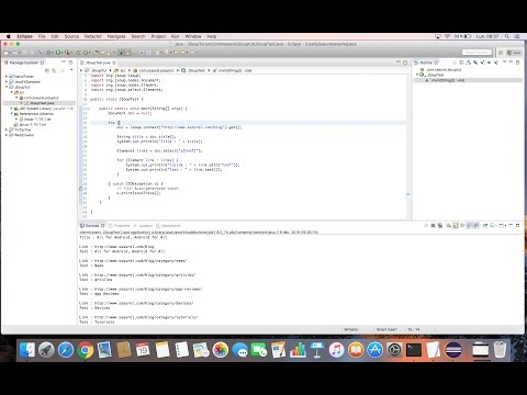 Parse an HTML page in Java with JSoup