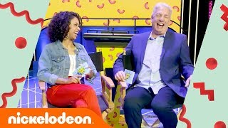 Liza Koshy Interviews Marc Summers in 'Host to Host' 🚩| All New Double Dare | Nick