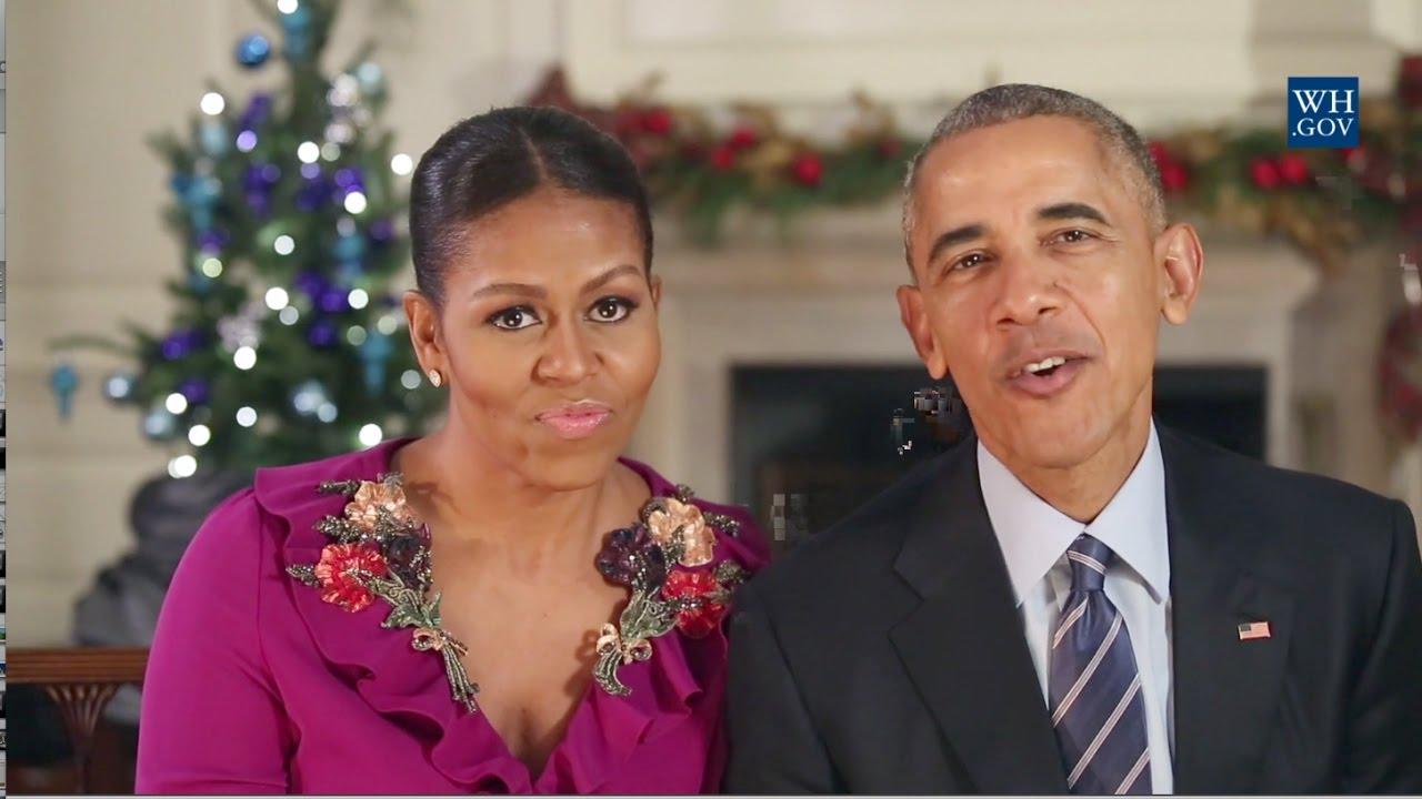 Obamas\' Final Christmas Greeting - 2016 - YouTube