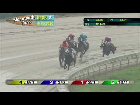 video thumbnail for MONMOUTH PARK 08-16-20 RACE 2