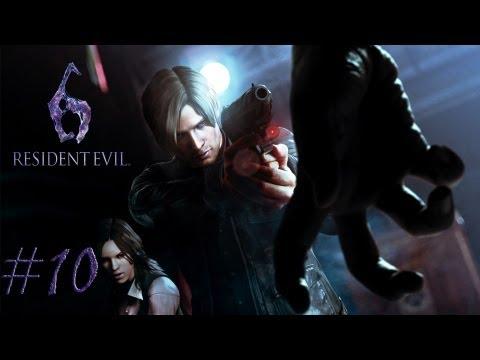 Смотреть прохождение игры [Coop] Resident Evil 6. Серия 10 - Вот так встреча!