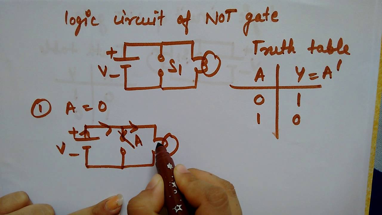 small resolution of not gate circuit