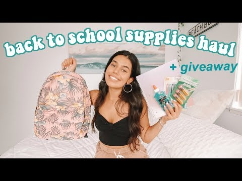 Back To School Supplies Haul 2018 + GIVEAWAY
