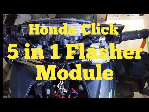 How To Install 5 In 1 Flasher Module On Honda Click 150.