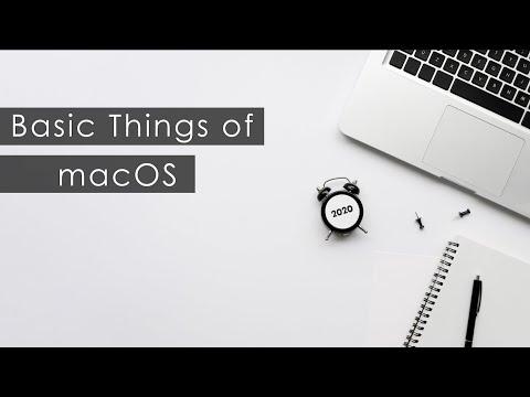 Basic Things of macOS