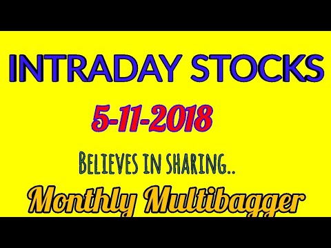 Day trading stocks 05-11-2018 Best stocks with huge potential for intraday